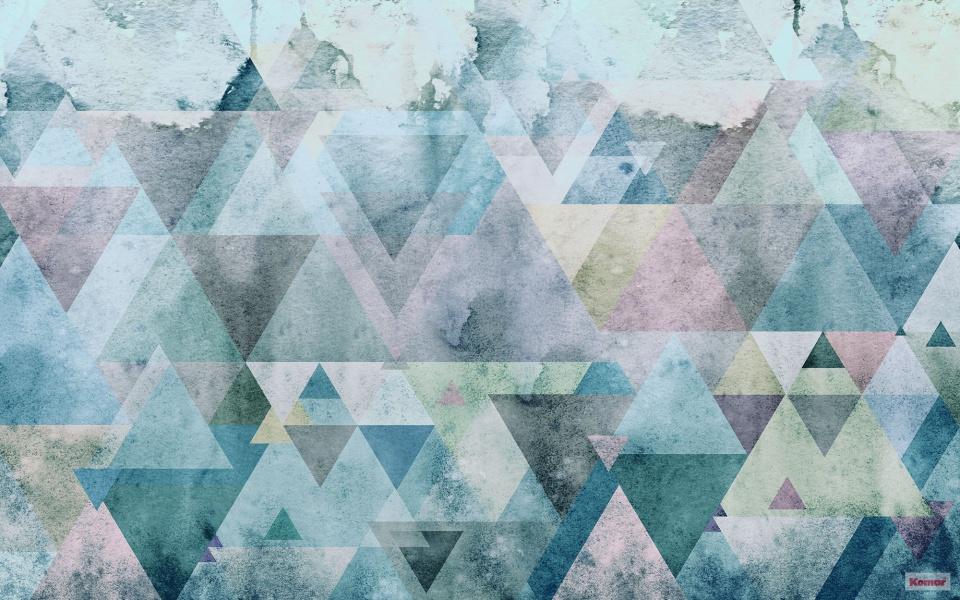 Pilttapeet Triangles Blue P018A-VD4 - 400×250 cm