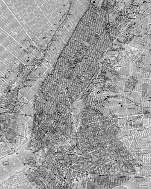 Pilttapeet NYC Map P033-VD2 - 200×250 cm