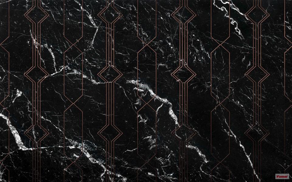 Pilttapeet Marble Black P040-VD4 - 400×250 cm