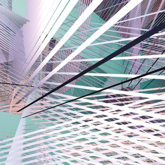 Fototapeet Infinity - Space Grid Spring 6011B-VD4