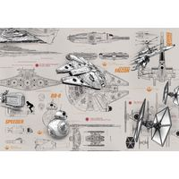 Fototapeet 8-493 Star Wars Blueprints