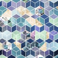Fototapeet Geometric Blue P024-VD2