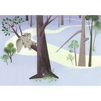 Fototapeet Dumbo Sleep on Tree IADX8-044